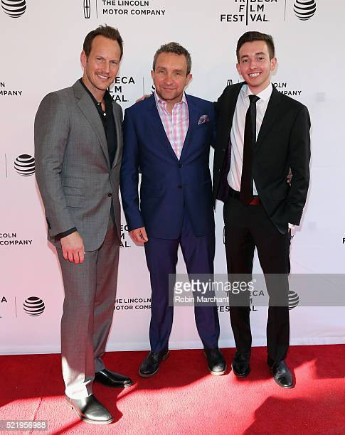 Patrick Wilson Eddie Marsan and Radek Lord attend A Kind of Murder premiere during 2016 Tribeca Film Festival at SVA Theatre 2 on April 17 2016 in...
