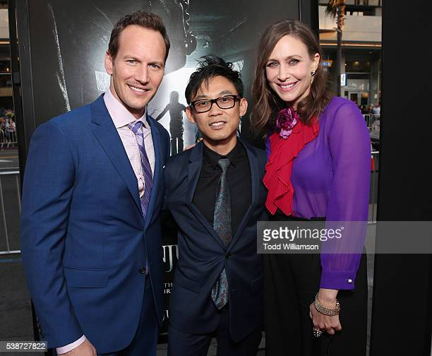 Patrick Wilson Filmmaker James Wan and Vera Farmiga attend the Los Angeles Film Festival The Conjuring 2 Premiere at TCL Chinese Theatre IMAX on June...