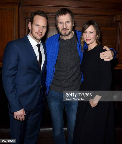 Patrick Wilson Liam Neeson and Vera Farmiga attend The Commuter' New York Premiere After Partyat The Plaza Hotel Oak Room on January 8 2018 in New...