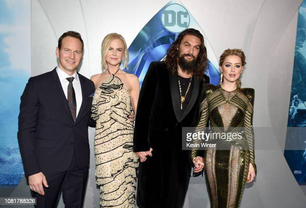 Patrick Wilson Nicole Kidman Jason Momoa and Amber Heard attend the premiere of Warner Bros Pictures' Aquaman at TCL Chinese Theatre on December 12...