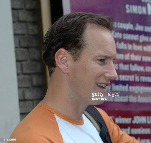 Patrick Wilson outside the stage door of the Schoenfeld Theatre for All My Sons at the Gerald Schoenfeld Theatre on September 28 2008 in New York City