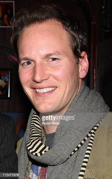 Patrick Wilson poses backstage at Rock of Ages off Broadway at New World Stages on January 5 2009 in New York City