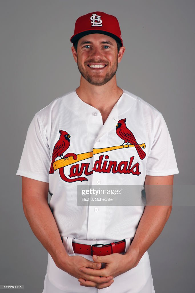 Patrick Wisdom #73 of the St. Louis Cardinals poses during Photo Day on Tuesday, February 20, 2018 at Roger Dean Stadium in Jupiter, Florida.