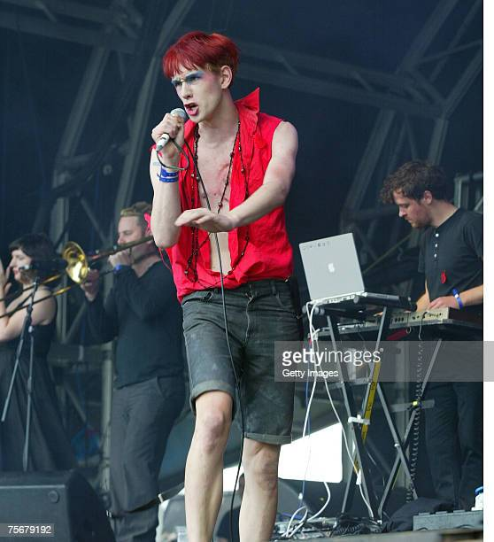Patrick Wolfe performs at the Time Out Lovebox London Weekender Festival on July 22 2007 in London England
