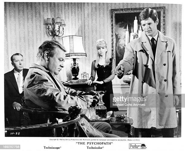 Patrick Wymark Judy Huxtable and Don Borisenko in a scene from the film 'The Psychopath' 1966 Photo by Paramount/Getty Images