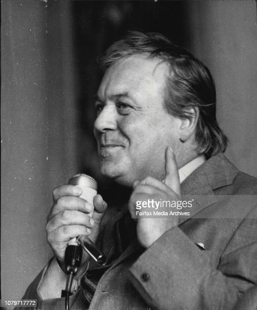 Patrick Wymark star of television screen series The Power Game and the Plane Makers guest of honour at the Journalist Club LuncheonActor Patrick...