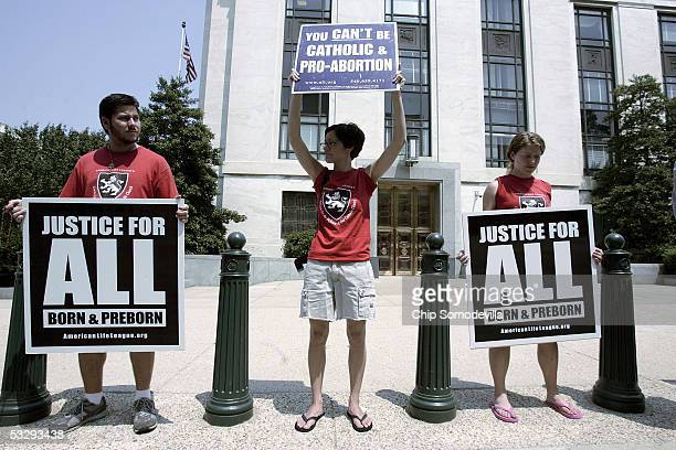 Patrick Yungwirth of Hagerstown Maryland Shannon Flanagan of St Louis Missouriand Teresa Myers of Manassas Virgina joined other activists from the...