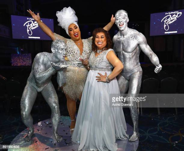 PatrickStarrr and MamaStarrr pose during M·A·C PatrickStarrr The Damn Show at Hammerstein Ballroom on December 13 2017 in New York City