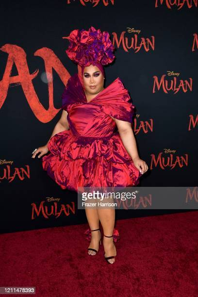 PatrickStarrr attends the premiere of Disney's Mulan at Dolby Theatre on March 09 2020 in Hollywood California