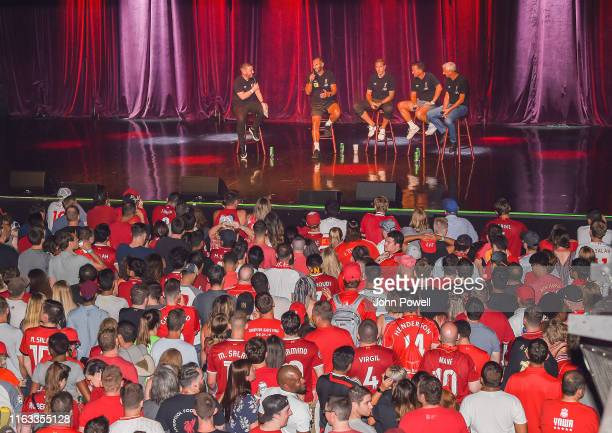 Patrik Berger Vladimír Šmicer Jason McAteer and Ian Rush Legends of Liverpool at the House of Blues on July 20 2019 in Boston Massachusetts