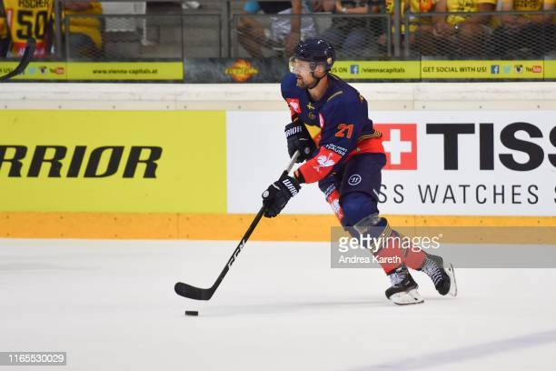 Patrik Berglund of Stockholm in action during the Champions Hockey League match between Vienna Capitals and Djurgarden Stockholm at Erste Bank Arena...