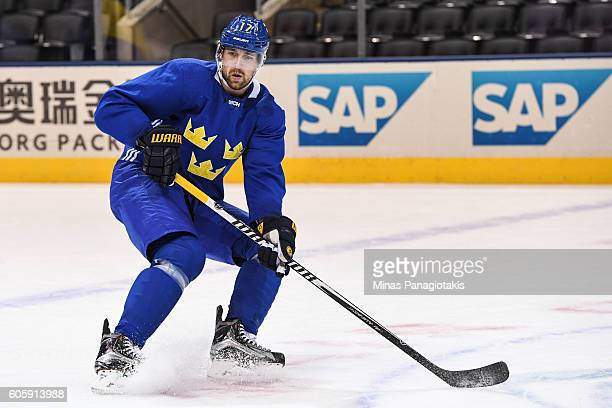 Patrik Berglund of Team Sweden skates during practice at the World Cup of Hockey 2016 at Air Canada Centre on September 15 2016 in Toronto Ontario...