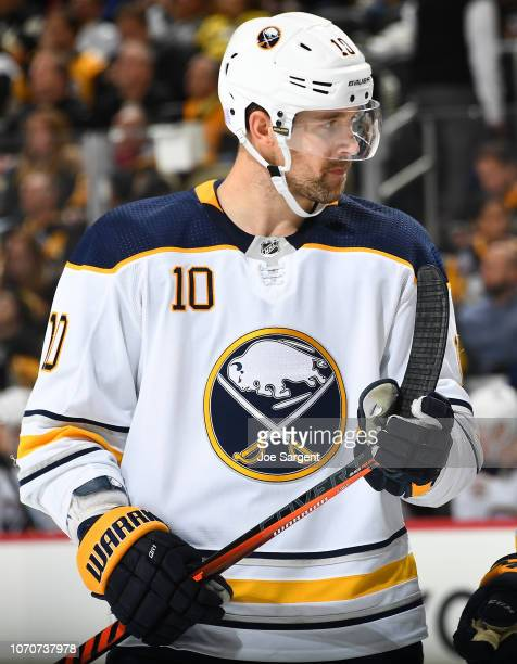 Patrik Berglund of the Buffalo Sabres skates against the Pittsburgh Penguins at PPG Paints Arena on November 19 2018 in Pittsburgh Pennsylvania