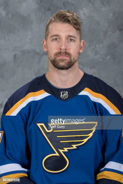 Patrik Berglund of the St Louis Blues poses for his official headshot for the 20172018 season on September 14 2017 in St Louis Missouri
