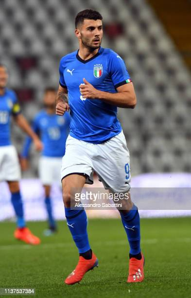 Patrik Cutrone of Italy U21 looks on during the International Friendly match between Italy U21 and Austria U21 at Stadio Nereo Rocco on March 21 2019...
