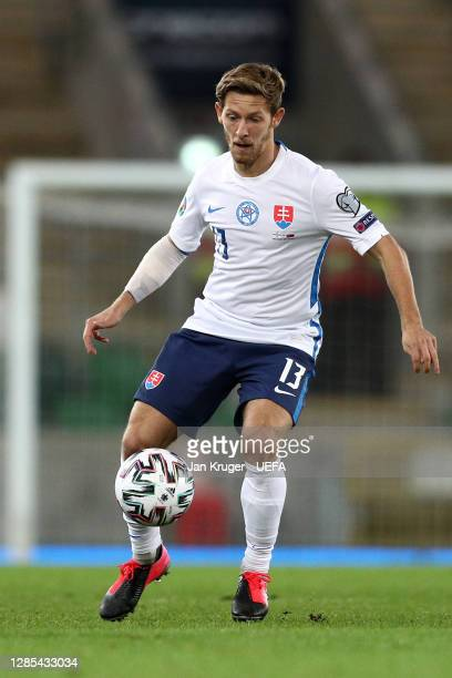 Patrik Hrosovsky of Slovakia in action during the UEFA EURO 2020 Play-Off Final between Northern Ireland and Slovakia at Windsor Park on November 12,...