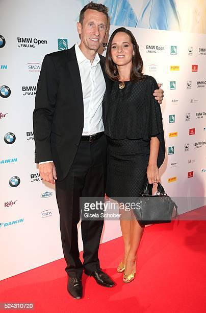 Patrik Kuehnen and his wife Katharina Kuehnen during the Players Night of the BMW Open 2016 tennis tournament at Iphitos tennis club on April 25 on...
