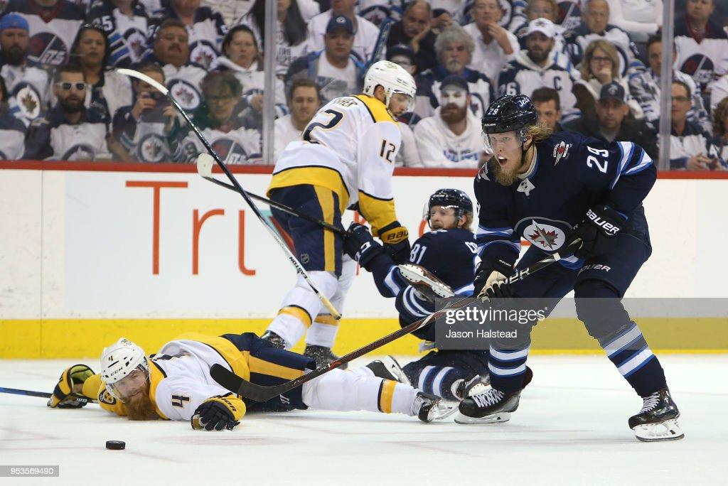 Nashville Predators v Winnipeg Jets - Game Three : News Photo