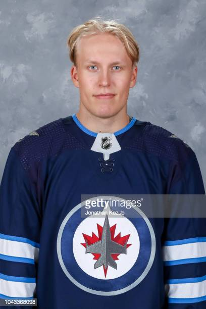 Patrik Laine of the Winnipeg Jets poses for his official headshot for the 20182019 season on September 13 2018 at the Bell MTS Iceplex in Winnipeg...