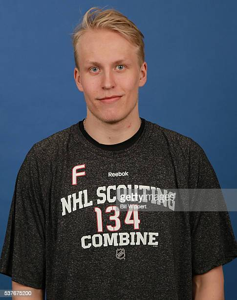 Patrik Laine poses for a headshot at the 2016 NHL Combine on June 2 2016 at Harborcenter in Buffalo New York