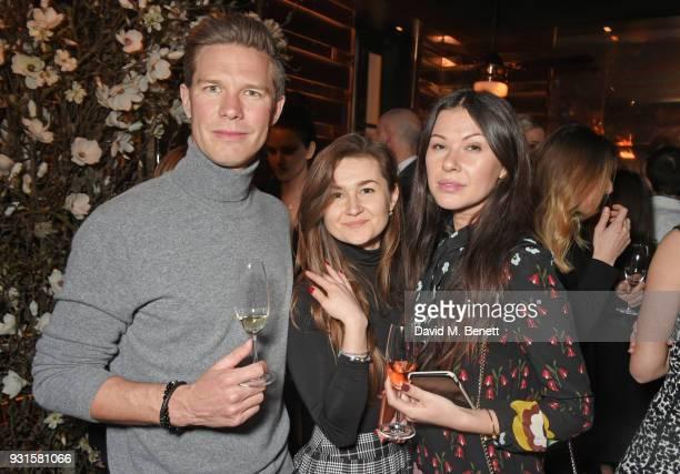 Patrik Lundin guest and Julia Lundin attend the launch of Champagne Armand de Brignac Blanc de Blancs en Magnum at Casa Cruz on March 13 2018 in...