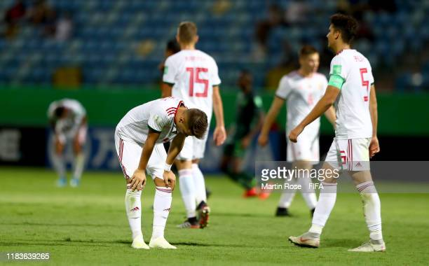 Patrik Posztobanyi of Hungary looks dejected after the FIFA U17 World Cup Brazil 2019 Group B match between Nigeria and Hungary at Estadio Olimpico...