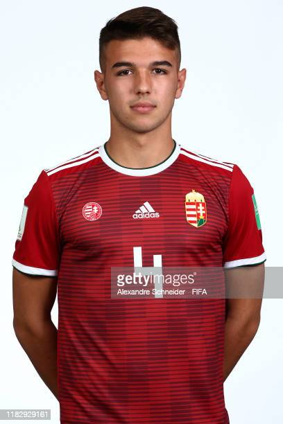 Patrik Posztobanyi poses during the Hungary U17 team presentation on October 23 2019 in Goiania Brazil