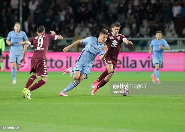 Patrik Schick during Serie A match between Torino v Sampdoria in Turin on April 29 2016
