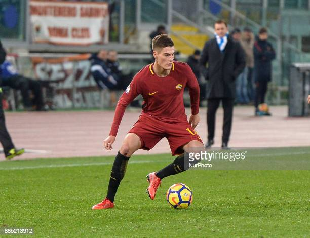 Patrik Schick during the Italian Serie A football match between AS Roma and Spal at the Olympic Stadium in Rome on december 01 2017