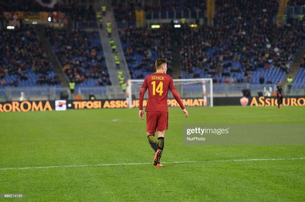 Patrik Schick during the Italian Serie A football match between A.S. Roma and Spal at the Olympic Stadium in Rome, on december 01, 2017.