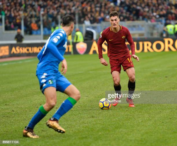 Patrik Schick during the Italian Serie A football match between AS Roma and Sassuolo at the Olympic Stadium in Rome on december 30 2017