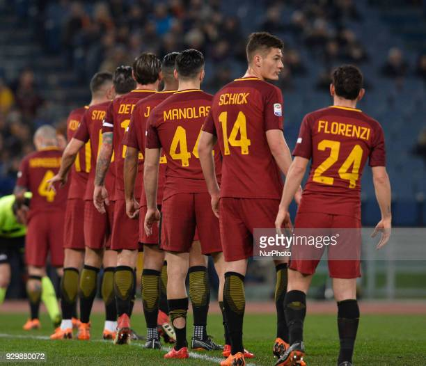 Patrik Schick during the Italian Serie A football match between AS Roma and FC Torino at the Olympic Stadium in Rome on march 09 2018