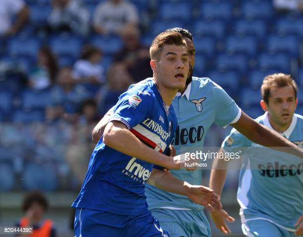 Patrik Schick during the Italian Serie A football match between SS Lazio and US Sampdoria at the Olympic Stadium in Rome on may 7 2017