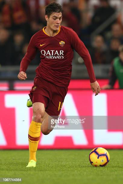 Patrik Schick of AS Roma during the Italian Serie A 2018/2019 match between AS Roma and FC Inter at Stadio Olimpico on Dicember 2 2018 in Rome Italy