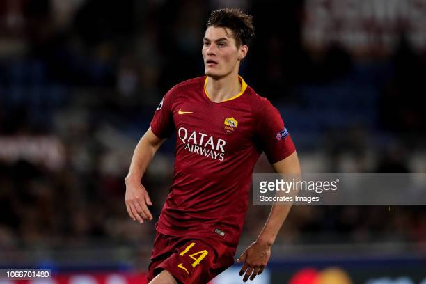 Patrik Schick of AS Roma during the UEFA Champions League match between AS Roma v Real Madrid at the Stadio Olimpico Rome on November 27 2018 in Rome...
