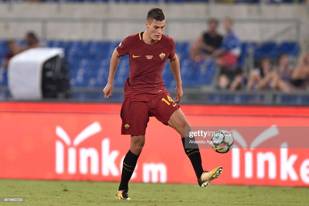 Patrik Schick of AS Roma in action during the friendly soccer match between AS Roma and Chapecoense at Stadio Olimpico on September 1, 2017 in Rome Italy.