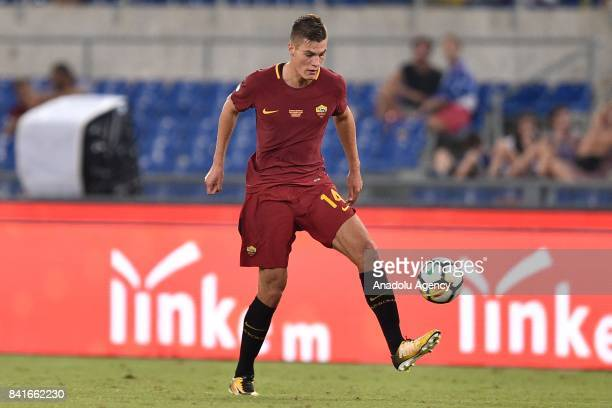 Patrik Schick of AS Roma in action during the friendly soccer match between AS Roma and Chapecoense at Stadio Olimpico on September 1 2017 in Rome...