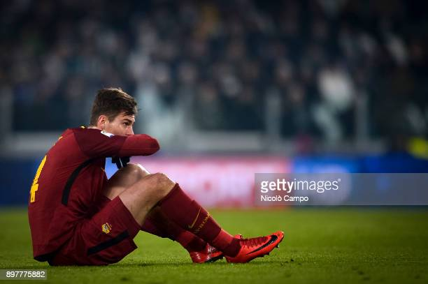 Patrik Schick of AS Roma looks dejected during the Serie A football match between Juventus FC and AS Roma Juventus FC won 10 over AS Roma