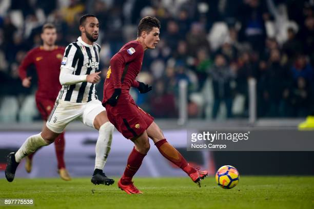 Patrik Schick of AS Roma misses a chance during the Serie A football match between Juventus FC and AS Roma Juventus FC won 10 over AS Roma