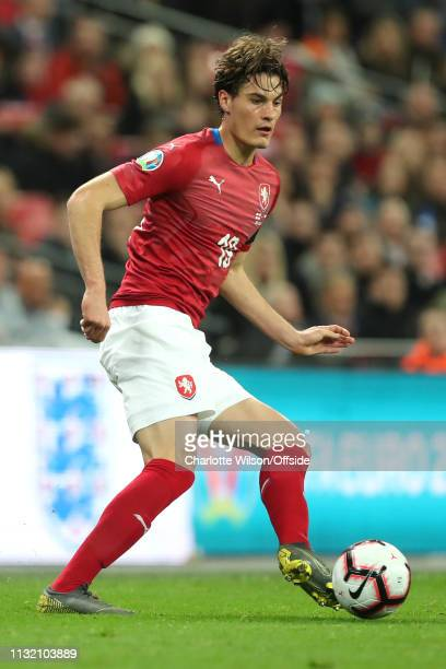 Patrik Schick of Czech during the 2020 UEFA European Championships group A qualifying match between England and Czech Republic at Wembley Stadium on...
