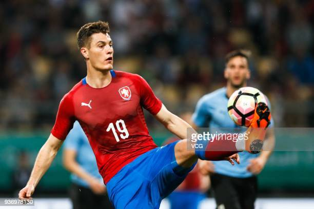 Patrik Schick of Czech Republic drives the ball during the 2018 China Cup International Football Championship match between Uruguay and Czech...