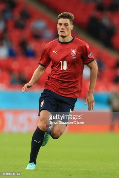 Patrik Schick of Czech Republic during the UEFA Euro 2020 Championship Group D match between Czech Republic and England at Wembley Stadium on June...