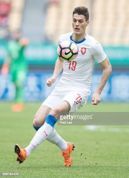 Patrik Schick of Czech Republic in action during 2018 China Cup International Football Championship between China and Czech Republic at Guangxi...