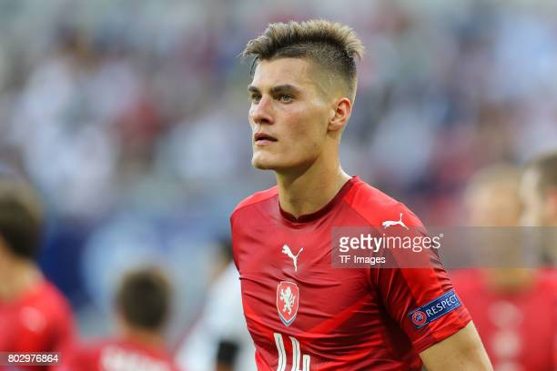 Patrik Schick of Czech Republic looks on during the UEFA European Under21 Championship Group C match between Germany and Czech Republic at Tychy...