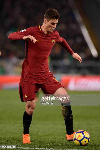 Patrik Schick of Roma during the Serie A match between Roma and AC Milan at Olympic Stadium Roma Italy on 25 February 2018