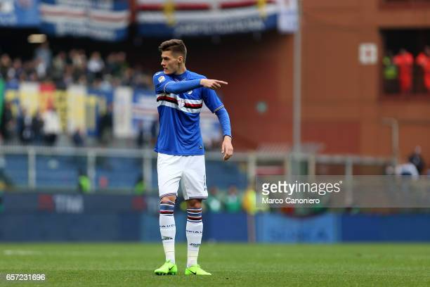 Patrik Schick of US Sampdoria during the Serie A football match between UC Sampdoria and Juventus FC Juventus FC wins 10 over UC Sampdoria