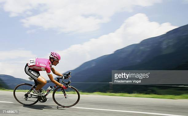 Patrik Sinkewitz of Germany and T-Mobile in action during Stage 17 of the 93rd Tour de France between Saint-Jean-de-Maurienne and Morzine-Avoriaz on...