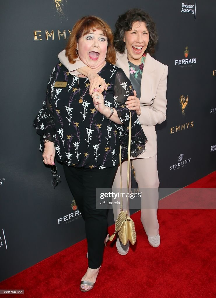 Patrika Darbo and Lily Tomlin attend the Television Academy's Performers Peer Group Celebration on August 22, 2017 in Los Angeles, California.