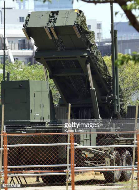 Patriot Advanced Capability-3 interceptor unit remains deployed on the premises of the Defense Ministry in Tokyo on April 25 the 85th anniversary of...