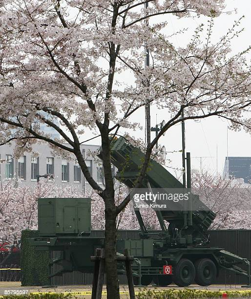 Patriot Advanced Capability3 interceptors are located at Ministry of Defense on April 4 2009 in Tokyo Japan North Korea has said it will launch a...